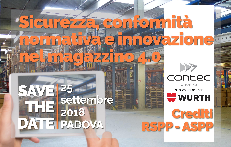Seminario Sicurezza Magazzini Padova crediti RSPP